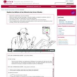 Repérer les éditions et les éléments des livres d'études