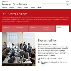 Free Database Software | Database Applications | SQL Server Express