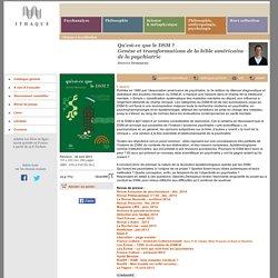 Éditions d'Ithaque: détails du livre «Qu'est-ce que le DSM ?» (Steeves Demazeux)