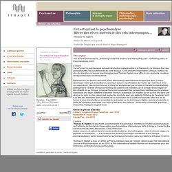 Éditions d'Ithaque: détails du livre «Cet art qu'est la psychanalyse» (Thomas H. Ogden)