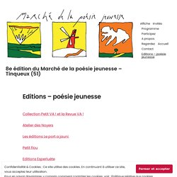 Editions – poésie jeunesse – 8e édition du Marché de la poésie jeunesse – Tinqueux (51)