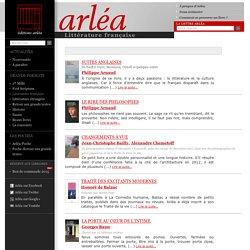 Éditions Arléa -Littérature française :