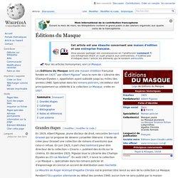 Éditions du Masque