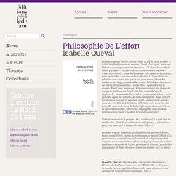 Philosophie de l'effort - Isabelle Queval - 2016