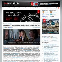 How to Save 70% with Adobe CC / CS6 Student & Teacher Editions