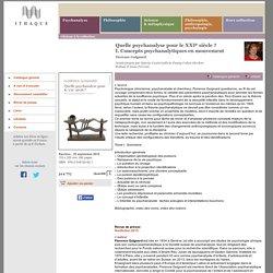 Éditions d'Ithaque: détails du livre «Quelle psychanalyse pour le XXIe siècle ?» (Florence Guignard)