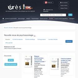 éditions érès - Nouvelle revue de psychosociologie