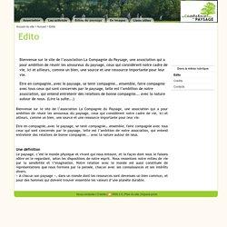 Edito - La Compagnie du Paysage