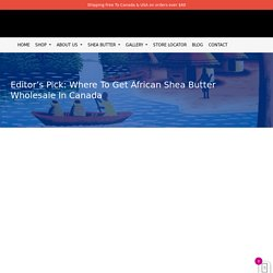 Editor's Pick: Where To Get African Shea Butter Wholesale In Canada