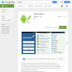 APK Editor - Android-apps op Google Play