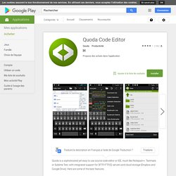 Quoda Code Editor – Applications Android sur Google Play