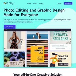 Photo editor and photo effects online, edit images with BeFunky