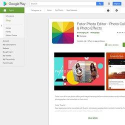 Fotor Photo Editor - Collage i efectes