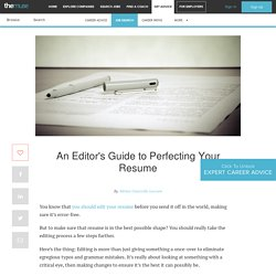 The 5-Step Editing Process for a Perfect Resume
