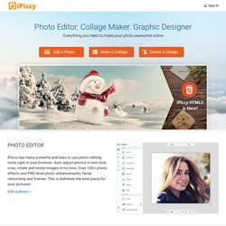 iPiccy - Online Photo Editor