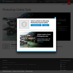 Photo Editor, Online Photo Editor, Photoshop Express