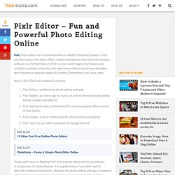 Pixlr Editor: Fun and Simple Photo Editing Online - FBlog