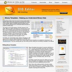 010 Editor - Binary Templates - Parsing Binary Files