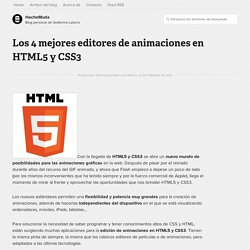Los 4 mejores editores de animaciones en HTML5 y CSS3