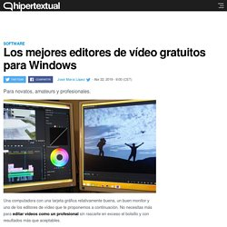 Editores de vídeo gratuitos y de calidad para Windows