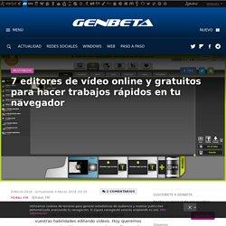 7 editores de vídeo online y gratuitos para hacer trabajos rápidos en tu navegador