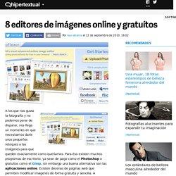 8 editores de imágenes online y gratuítos