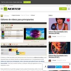 Editores de vídeos para principiantes - NeoTeo