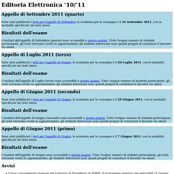 Editoria Elettronica '10/'11