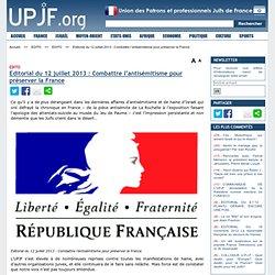 UPJF.org 12/07/2013 sauver la France