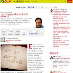 10 reglas para hacer diseño editorial | Mario Balcázar