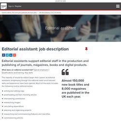 Editorial assistant: job description