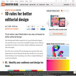 10 rules for better editorial design