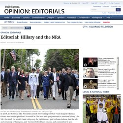 Editorial: Hillary and the NRA