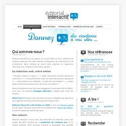 Editorial Interactif votre agence en conseil éditorial et contenu web