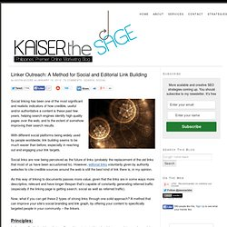 Linker Outreach: A Method for Social and Editorial Link Building