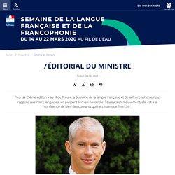Semaine de la langue française et de la francophonie 2020_Éditorial du ministre _éditorial_Ministère de la Culture