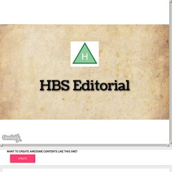 HBS Editorial by mjesussciences on Genially