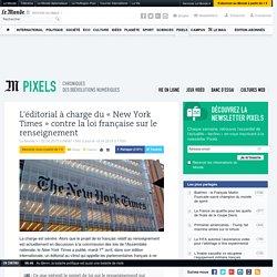 L'éditorial à charge du « New York Times » contre la loi française sur le ren...