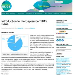Introduction to the September 2015 Issue - Enlivening Edge