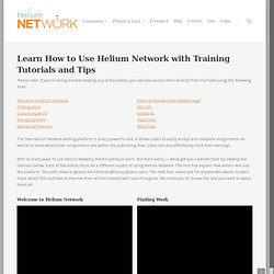 Editorial Training - Helium Network