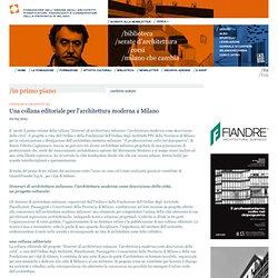 Una collana editoriale per l'architettura moderna a Milano