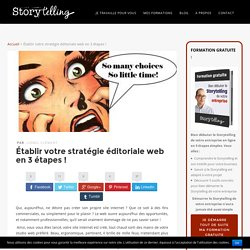 Votre stratégie éditoriale web en 3 étapes ! l Ecritoriales.com