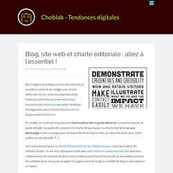 Blog, site web et charte éditoriale : allez à l'essentiel !