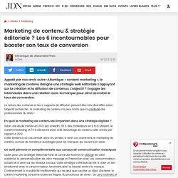 Marketing de contenu & stratégie éditoriale ? Les 6 incontournables pour booster son taux de conversion