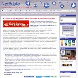 Exemple de charte éditoriale : portail Information Jeunesse Poitou-Charentes