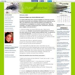 Comment rédiger une charte éditoriale web ?