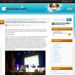 #ET11 Stratégie éditoriale et production de contenus