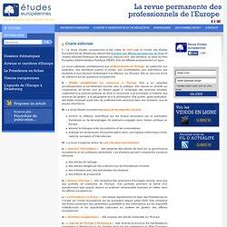 Charte éditoriale - La revue permanente des professionnels de l'Europe