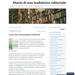 Diario di una traduttrice editoriale