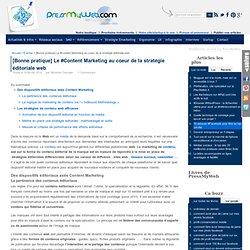 Définir une stratégies éditoriales sur le web - L'importance du Marketing de Contenu